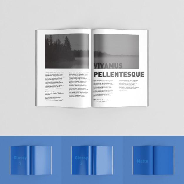 Mock up de páginas de revista | Descargar PSD gratis