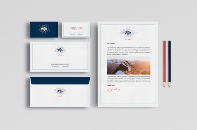 Mock up de papelería de negocios PSD gratuito