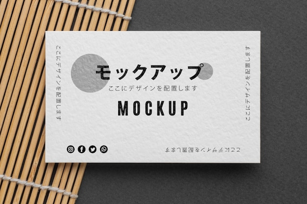 Mock-up samenstelling voor visitekaartjes Gratis Psd