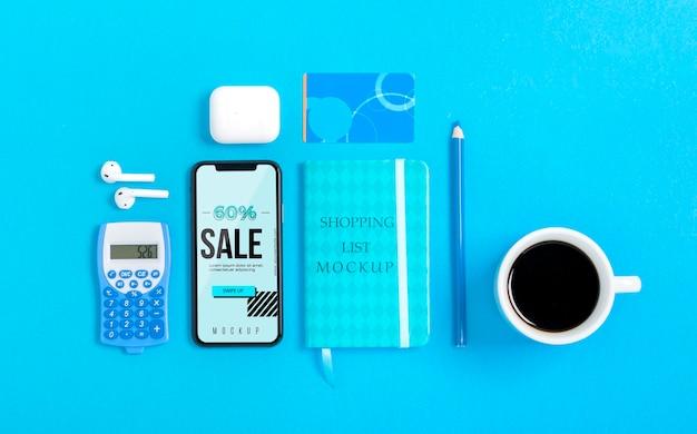 Mock-up shoppings tools met mock-up Premium Psd