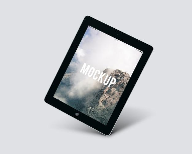Mock up de tableta negra PSD gratuito