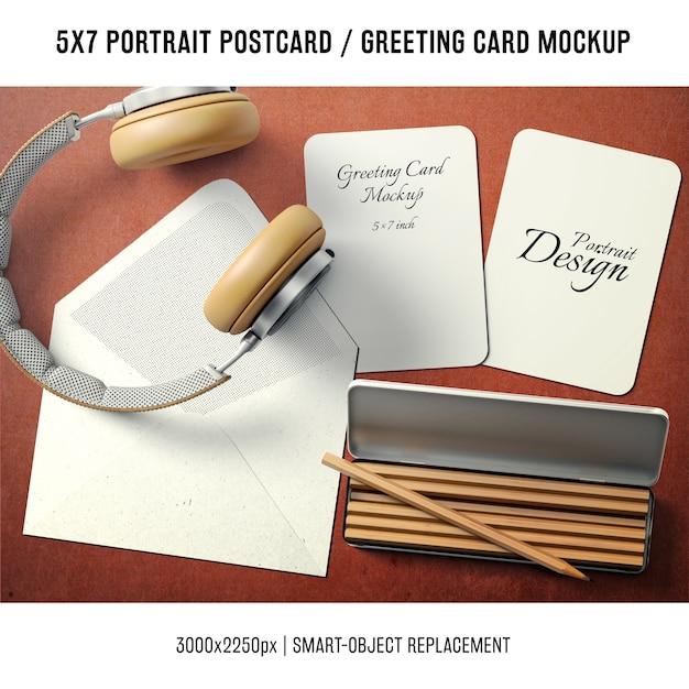 Mock up de tarjeta de agradecimiento PSD gratuito