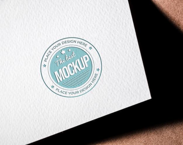 Mock-up van grof papieren visitekaartje Gratis Psd