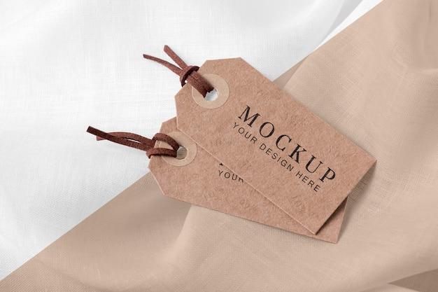 Mock-up van kledinglabels op zachte stof Gratis Psd