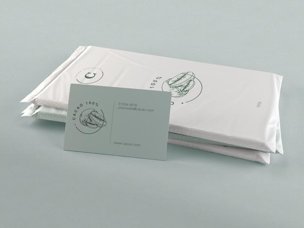 Mock-up van plastic chocoladeverpakking Gratis Psd