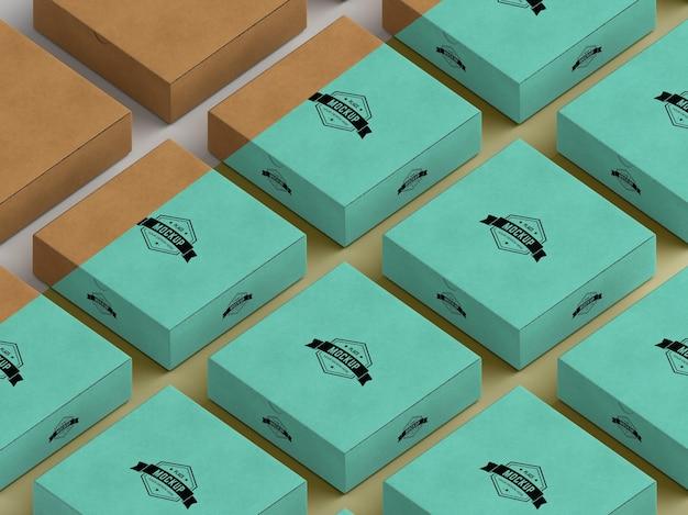 Mock-up van verpakkingsdoos Premium Psd