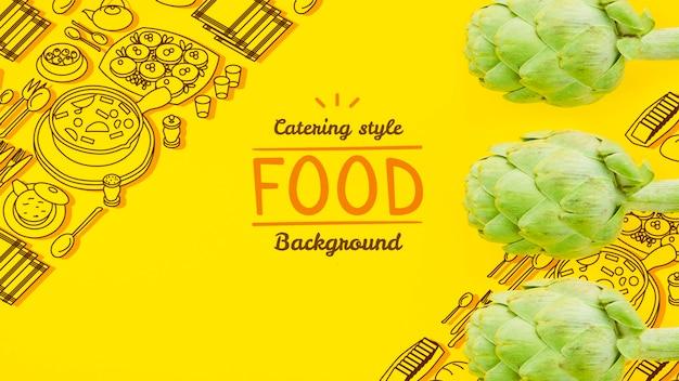 Mock-up verse en gezonde groente Gratis Psd