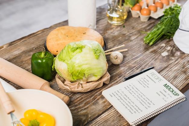 Mock-up voor gezonde voeding Premium Psd