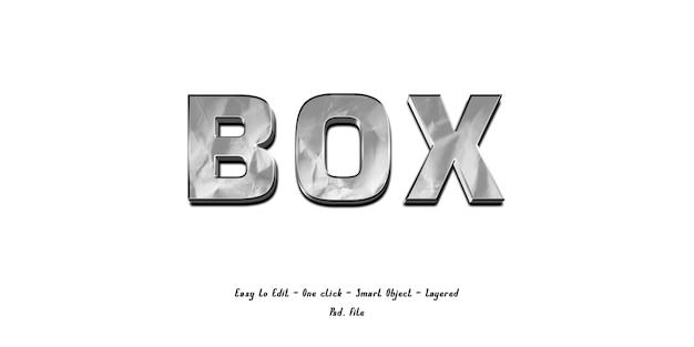 Mockup 3d-effect lettertype alfabet met papier textuur Premium Psd
