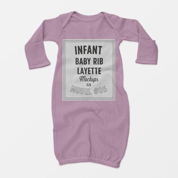 Mockup baby rib babyuitzet 05 Gratis Psd