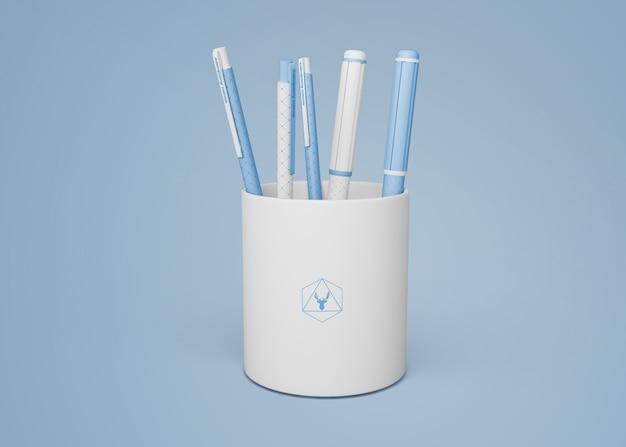 Mockup de bolígrafo para merchandising PSD gratuito