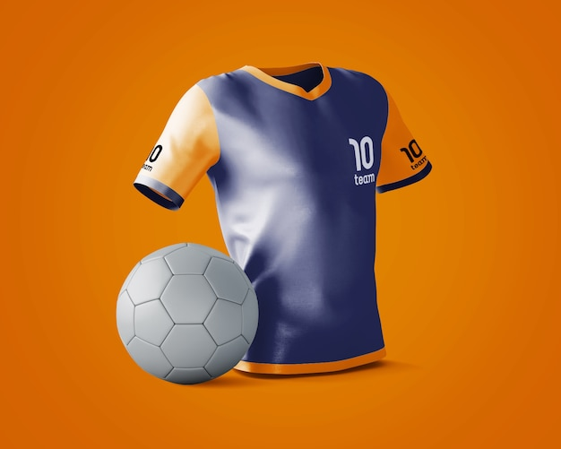 Mockup de camiseta deportiva con logotipo PSD gratuito