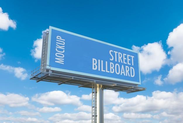 Mockup cartellone stradale Psd Premium