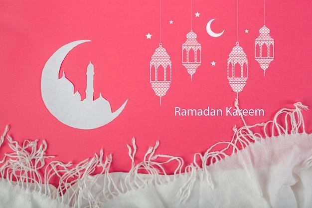 Mockup con concepto ramadán PSD gratuito