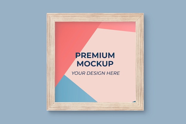 Mockup cornice in legno Psd Premium