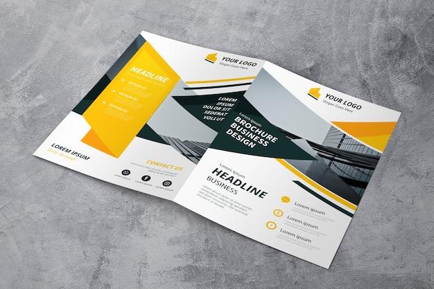 Mockup de cover de folleto PSD Premium
