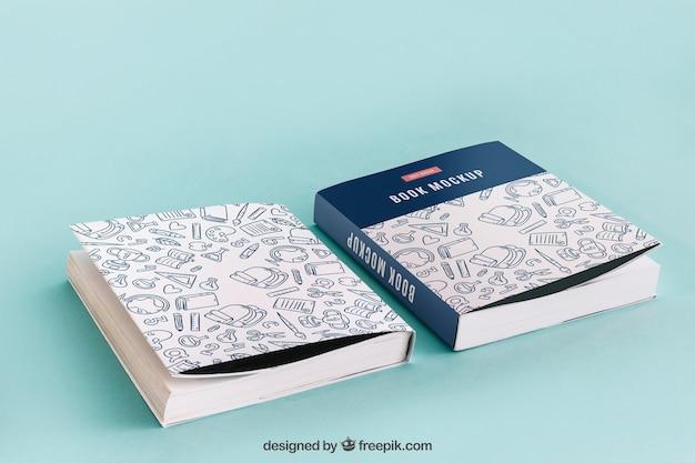 Mockup de cover de libro de delante y detrás PSD gratuito