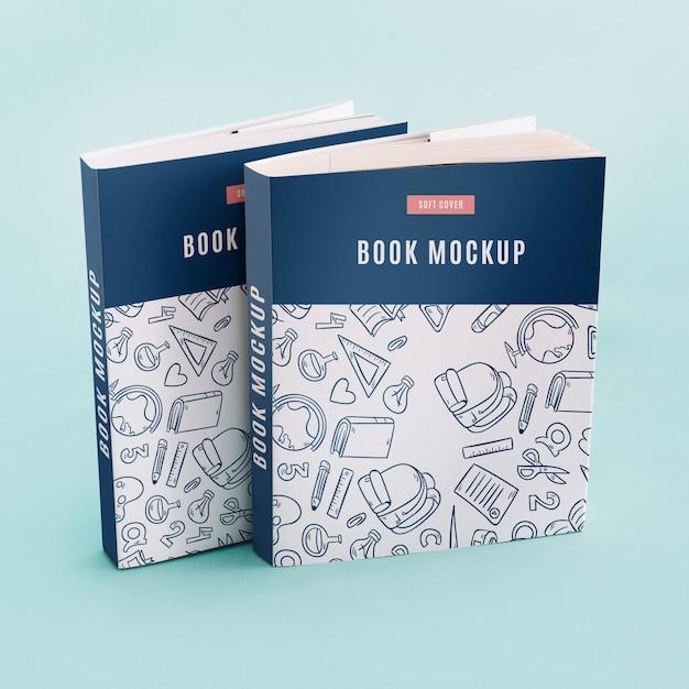 Mockup de cover de libro PSD gratuito