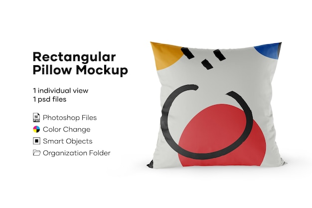 Mockup cuscino rettangolare Psd Premium