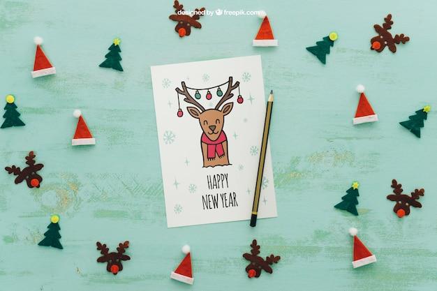 Mockup de navidad con página de papel | Descargar PSD gratis