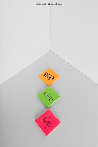 Mockup de notas adhesivas   Descargar PSD gratis