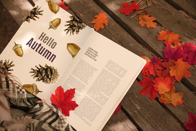 Mockup del libro aperto con il concetto di halloween Psd Gratuite