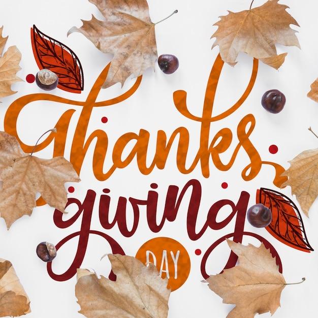 Mockup del ringraziamento con copyspace Psd Gratuite