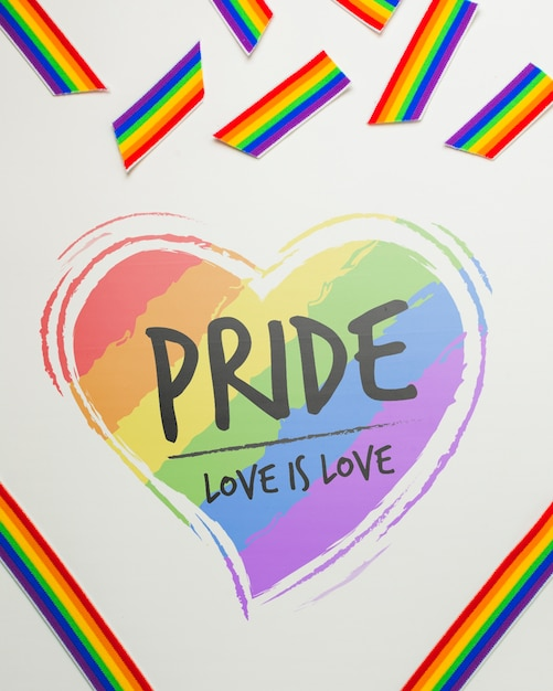 Mockup dell'orgoglio gay Psd Gratuite