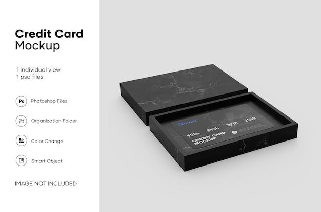 Mockup della carta di credito Psd Premium