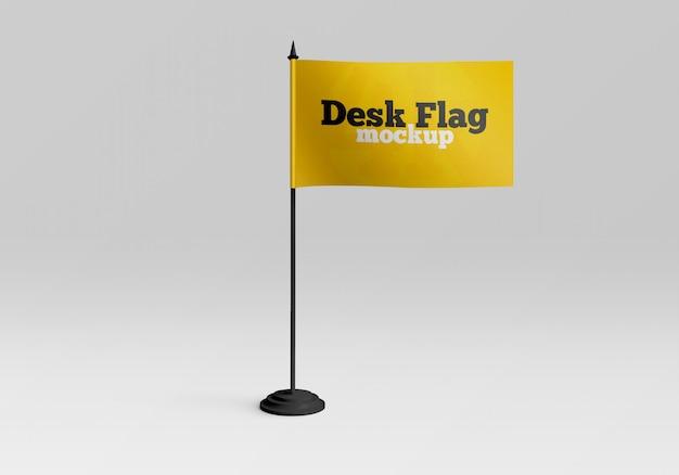 Mockup di bandiera da tavolo Psd Premium