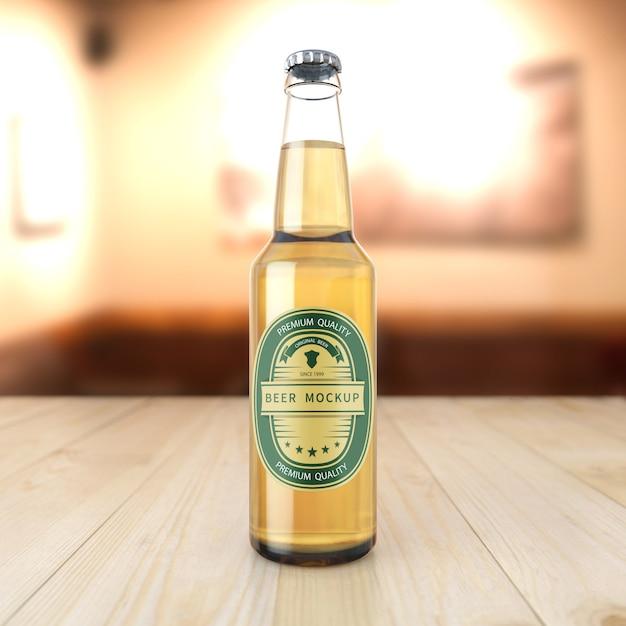 Mockup di bottiglia di birra Psd Premium