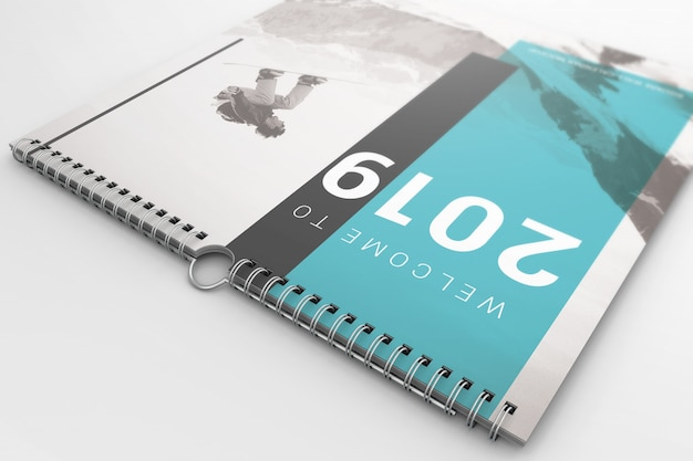 Mockup di calendario murale creativo Psd Premium