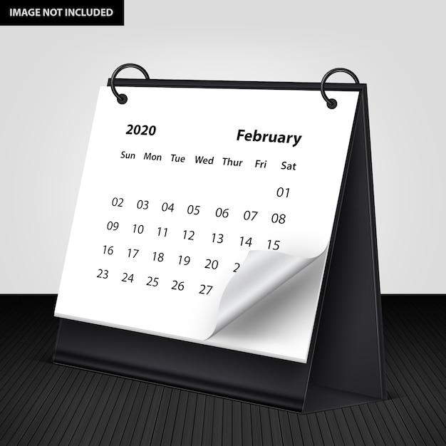 Mockup di calendario Psd Premium