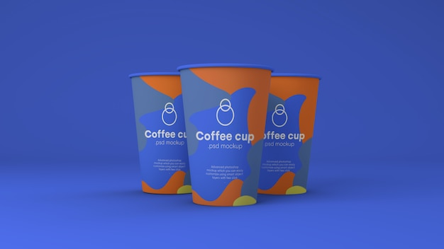 Mockup di carta tazza di caffè psd Psd Premium
