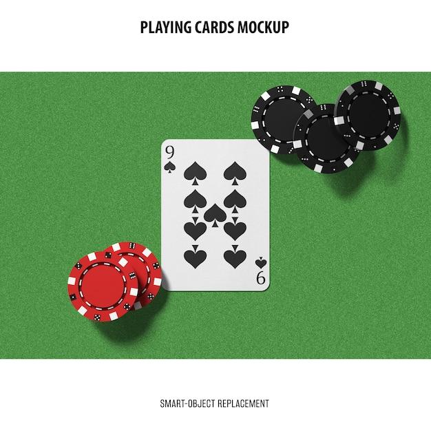 Mockup di carte da gioco Psd Gratuite