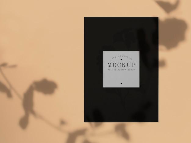 Mockup di carte nere di qualità premium Psd Gratuite