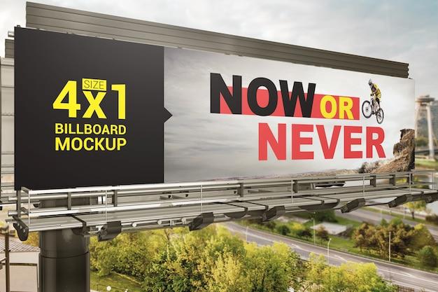 Mockup di cartelloni pubblicitari all'aperto Psd Premium