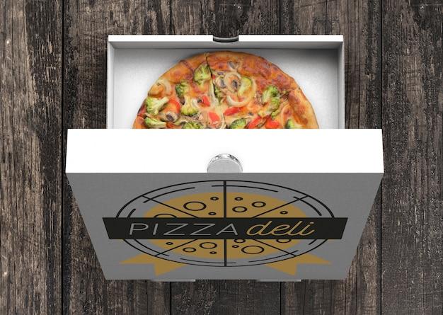 Mockup di cartone per pizza Psd Gratuite