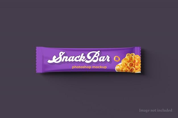 Mockup di confezioni per snack bar Psd Premium