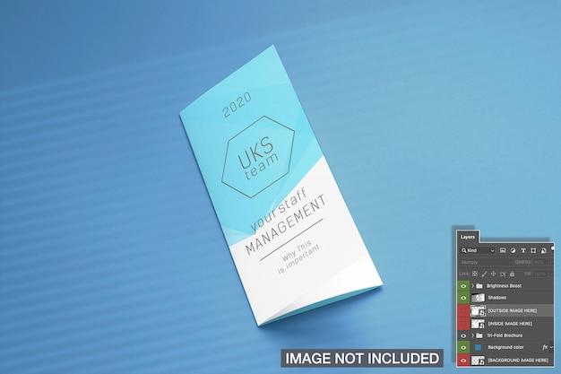 Mockup di copertina brochure pieghevole ripiegabile Psd Gratuite