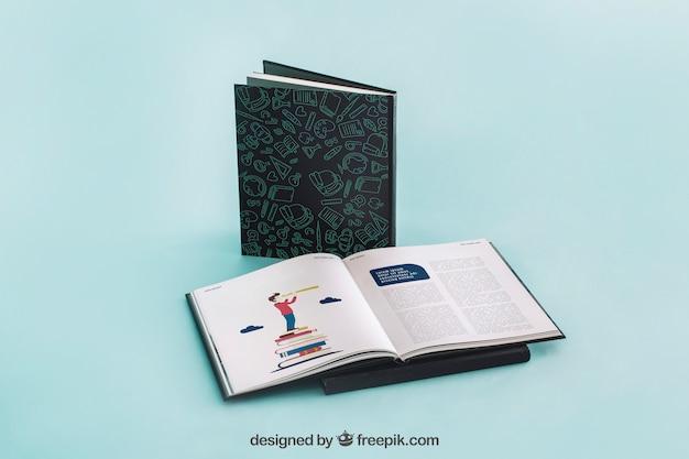 Mockup di copertina del libro aperto Psd Gratuite