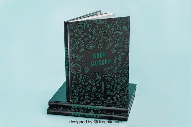 Mockup di copertina del libro scuro Psd Gratuite