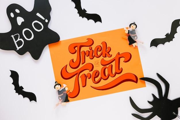 Mockup di copertina di carta con il concetto di halloween Psd Gratuite
