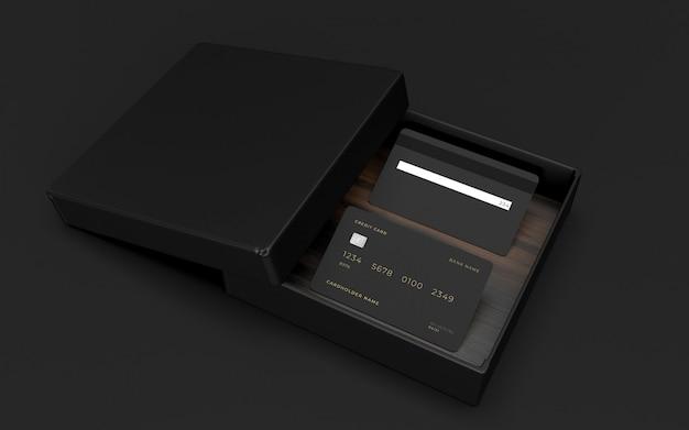 Mockup di design della carta di credito Psd Premium