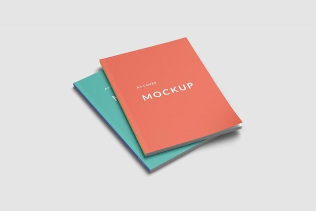 Mockup di due copertine di riviste Psd Premium