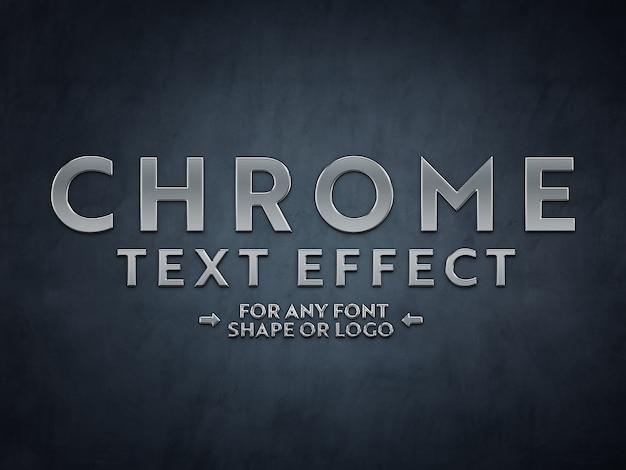 Mockup di effetto testo scuplted in metallo cromato Psd Premium