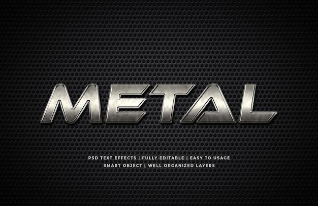 Mockup di effetto testo stile metallo 3d Psd Premium