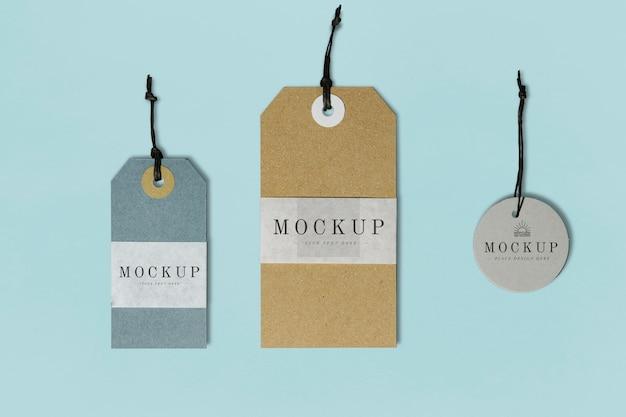 Mockup di etichette di abbigliamento di alta qualità Psd Gratuite
