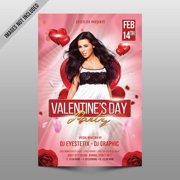Mockup di festa di san valentino Psd Premium