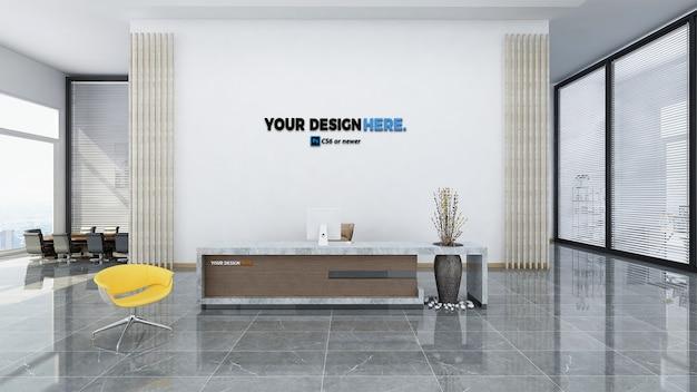 Mockup di front office ufficio aziendale Psd Premium